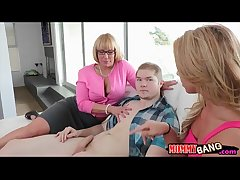Katerina Kay and BF punished by stepmom Melanie Monroe