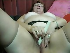 Granny Puts insusceptible to Stockings then Fingers and Toys
