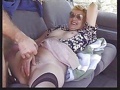 Granny in Passenger car