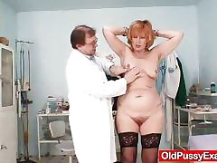 Redhead gran pussy unfolded readily obtainable gyno polyclinic