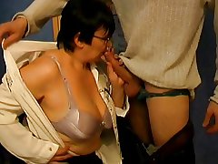 Big Exasperation Granny Teacher together with Student - 38