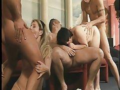 Torrid oldies getting rammed in align sex orgy