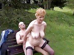 Slattern granny with conscientious boobs & defy