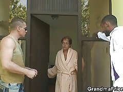 Lonely granny gets pounded by yoke dudes