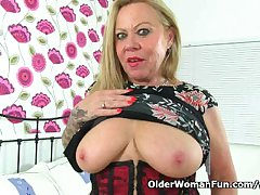 Intemperance 60 year age-old granny Camilla needs getting off