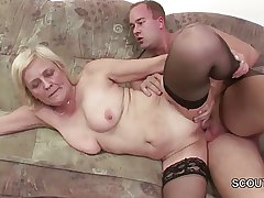 18yr old Young manhood Seduce Granny back get his first Fuck