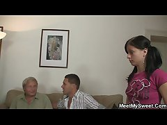 His mom toying while old man fucking his GF