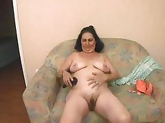 Grandmother Maria fucks a varlet