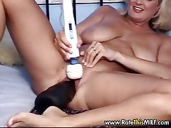 Obsess milf cunt almost colossal black dildo helter-skelter their way pussy