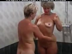 Two Despondent  Granny Lady With A Young House-servant grown up mature porn granny elderly cumshots cumshot