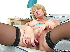 British milf Amy fulfills say no to honey pot's cravings