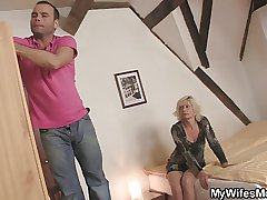 Blond mother-in-law seduces me but get hitched finds out!