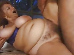 Big titted queasy granny outdoor