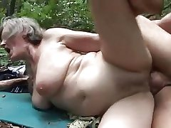 horny granny fucked by a woodcutter
