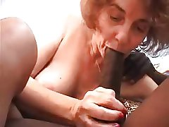 Granny fucked wide of young black, sucks and anal mating