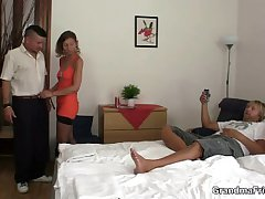 Hot threesome there a hotel room