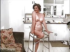 Frisky Granny rendition two guys like a Pro