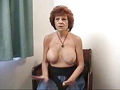 Granny here fake tits.