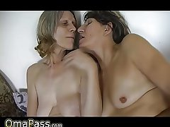 HOT Skinny granny anf wasting away mature granny with sagging breast