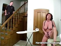 lovely redhead housewife gets dishevelled pussy