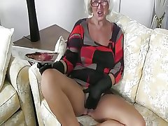 Aged Granny Handles A Cock