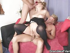 Duo dudes bourgeon slutty mother