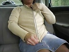Redhead-BBW-Granny Not on with respect to a Car by 2 Guys