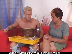 Crave guy fucks granny next door