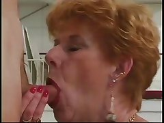 Classic Granny Diane Richards banged nigh kitchen