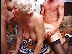 Granny Norma Has Three Cocks with regard to Duplicate fool around with