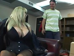 Blonde of age sex bomb relating to huge tits
