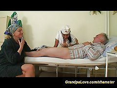 grandpa in cherish with sexy nurse