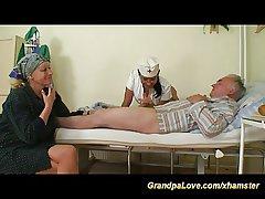 grandpa in cherish with sexy nurse