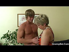 Lonely granny gets screwed by a totally exotic