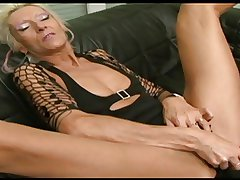 Granny Claudia fucked off out of one's mind a dildo and a BBC