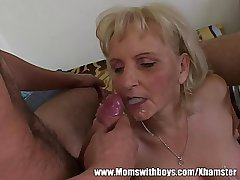 Adding machine Geeks Gets Warmed Here By A Mature Blonde