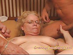 Horrific Granny gets FED her CREAM The night