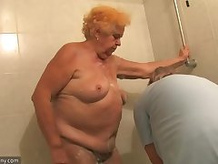 OldNanny Venerable Chubby lady granny sucking unearth and masturbation