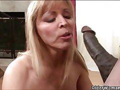 Busty milf Nicole Moore gets cum coated