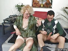Disappointing grandma gives up say no to old cunt