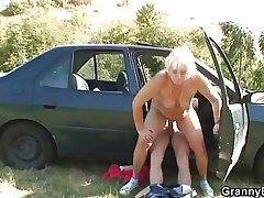 Car driver bangs granny botch