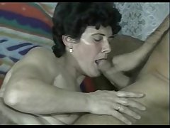 Soft Granny fucks young lady's man