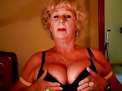 Granny Andrea shows her racy gut