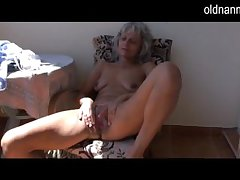 Naughty doyen Granny masturbating nearly bauble