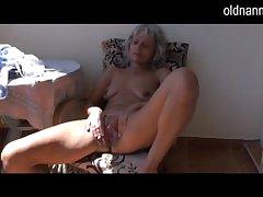 Naughty doyen Granny masturbating nearly bauble