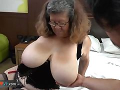 Agedlove granny with big pair banged