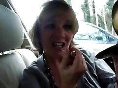 Granny Jasmine Shows Off The brush Voiced Skills in a Car Again!