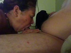 Mi suegra nauseous mamando mi pija - real aunt sucking my horseshit