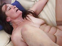 Granny slut fancying young cock