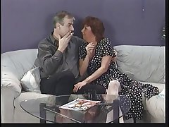 Mature brunette sucks husband's cock then eats young punk chick's pussy on Davenport